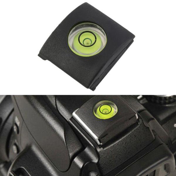 Atacado-1pc Atacado Flash Hot Shoe Protector Cap Capa Bubble Spirit Level Para DSLR Camera Em estoque!
