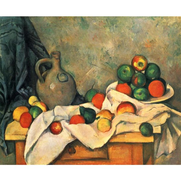 Landscapes oil painting Curtain, Jug and Fruit Paul Cezanne reproduction modern art High quality