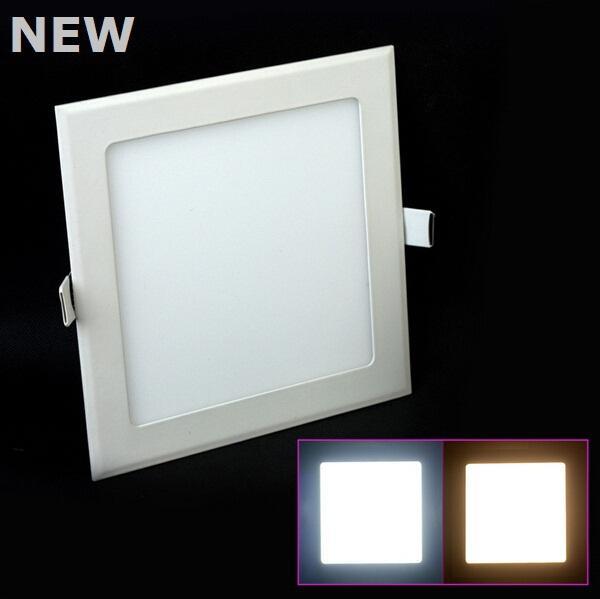 3W 9W 12W 18W 25W Panel LED luz cálida blanco / frío blanco cuadrado suspendido techo LED iluminación bombilla AC85-265V envío gratis