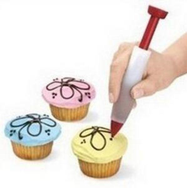 Popular 1 Pcs Cake Decorating Tools New Silicone Mini Cake Decorating Pen Useful Cookies Cup Cake Cream Chocolate Decorating Pen