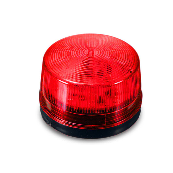 DC12V Mini Red Spot Warning Lamp, Wired Strobe Siren without Sound Signal Warning Light Flash for Home Security Alarm System