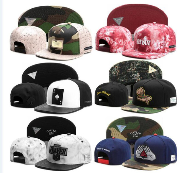 2017 Hottest Cayler and Sons Snapback Men or Women Hip Hop Snapback hats Snapback Women hat Ball Caps Sport Hats Adjustable