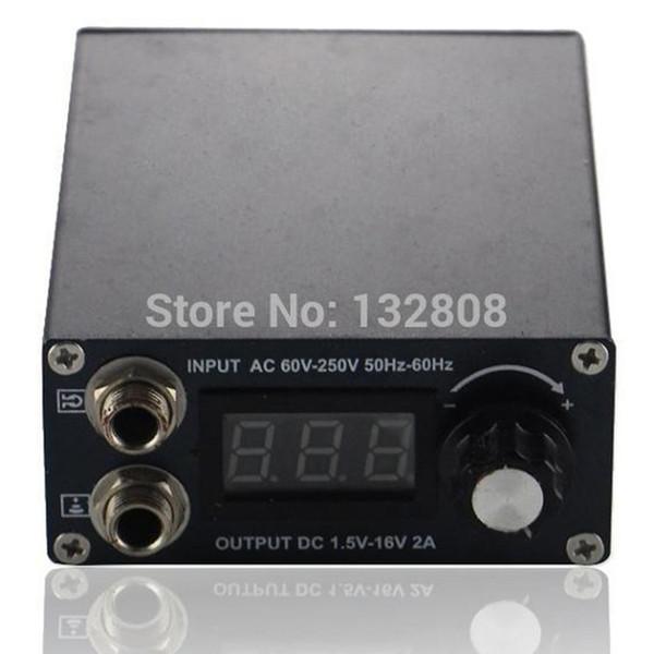 Suministro de energía al por mayor-profesional Fuente de alimentación LCD digital negro para máquina de tatuaje en precio al por mayor Envío gratuito TP-168A