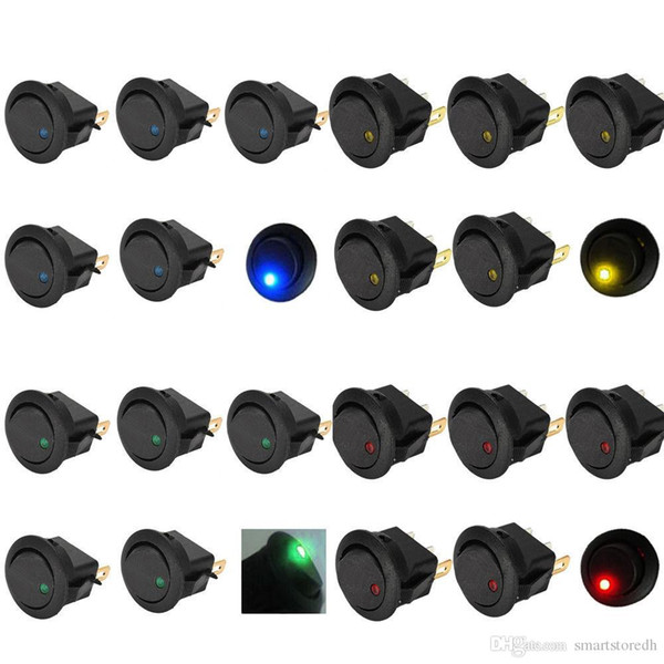 best selling 20PCS New Led Dot Light 12V Car Auto Boat Round Rocker ON OFF Toggle Switch B00124 JUST