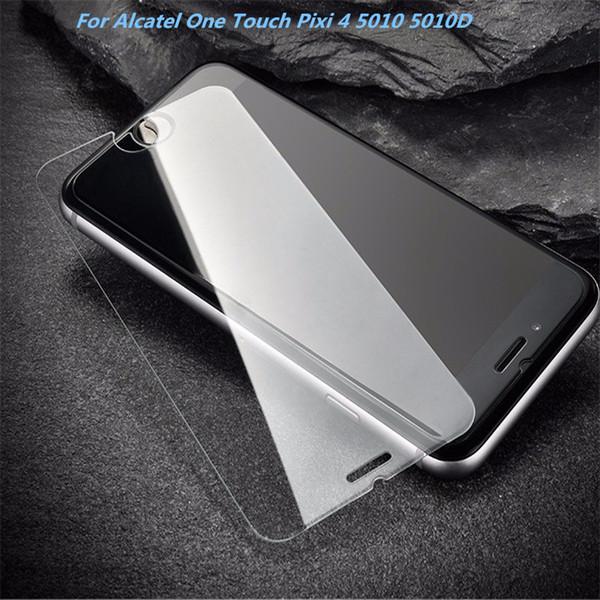 Alcatel One Touch için Pixi 4 5010 5010D 3G Temperli Cam Ekran Koruyucu Için Huawei Onur 6X Y6 II Filmi Anti-paramparça Kağıt Paketi
