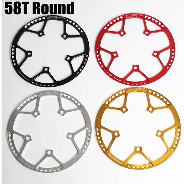 top popular High Quality 130 BCD 58T A7075 Alloy BMX Chainring Super Light Folding Bicycle Chainwheel Bike Crankset Bicycle Component 2019