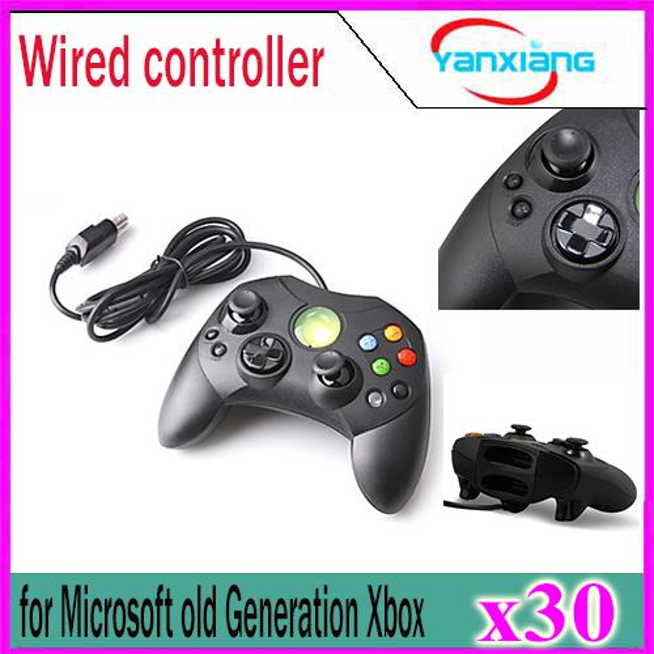 30 adet Microsoft için Kablolu Denetleyici S Tipi 2 A Eski Nesil Xbox Konsolu Video Oyun YX-XBOX-03