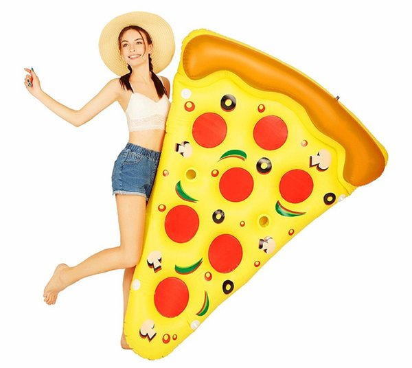72 inch 1.8M Gigantic pizza slice pool float inflatable Pizzas swimming float for pool Swim Ring Water Fun Pool Toys