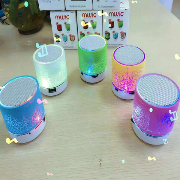 best selling Mini Speaker Bluetooth Speakers LED Colored Flash A9 Handsfree Wireless Stereo Speaker FM Radio TF Card USB For Mobile Phone Computer