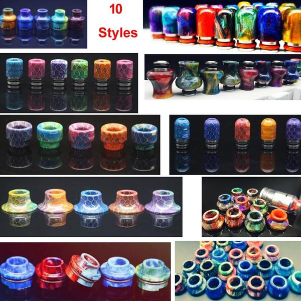Wide bore Epoxy Resin Drip Tips 510 mouthpiece for Kennedy Goon 528 Coilart mage Limitless Subzero 22mm 24mm rda rta tank atomizer DHL