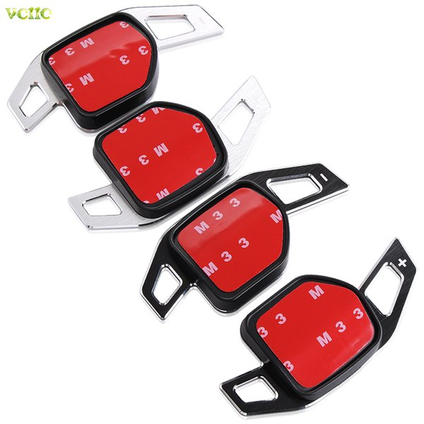 New Car Steering Wheel DSG Paddle Extension Shifters Shift Sticker Decoration for AUDI A3 S3 A4 S4 A5 A6 S6 A8 R8 Q5 Q7 TT