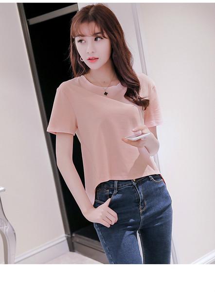 Top 2018 Nuove donne di marca di alta qualità Moda Primavera ed estate T-shirt casual Ride Back Down Classic Sexy Slim Plus Size Camicetta