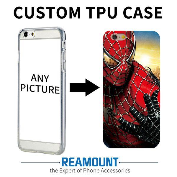 150 pcs moda personalizar personalizar soft silicone diy case capa para iphone 4 4s 5 5s 5c 6 6 s 6 mais 6 s plus