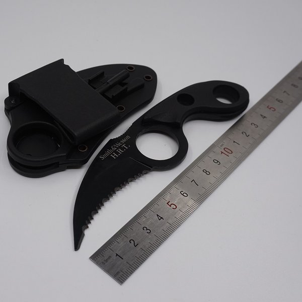Pocket Knife Bear Claw Karambit Knife Fixed Blade Outdoor Combat Survival Tactical Knives Camping EDC Tools 440 Stainless Steel