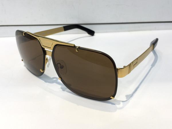 LA1300 Retro Sunglasses Men Designer He Rimless Frame Gold Plated Square Frame Retro Steampunk Style UV400 Lens Come With Original Case