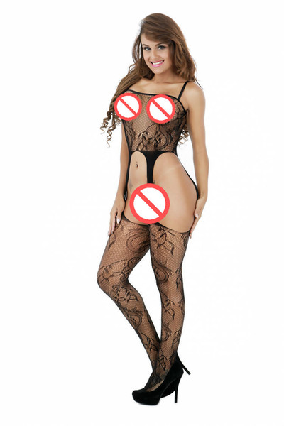 top popular 2020 Hot Sell Sexy Sex Lingerie Black Sexy Bodystocking Open Crotch Body suit Sexy Costumes Intimates Women Body Stocking Free Size 2021