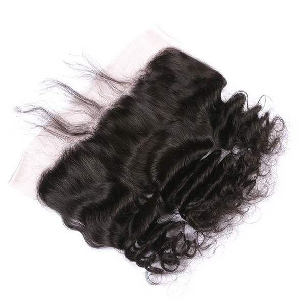 Brazilian Loose Wave Full Lace Frontal Closure With Baby Hair Virgin Human Hair Lace Frontals Shedding Free