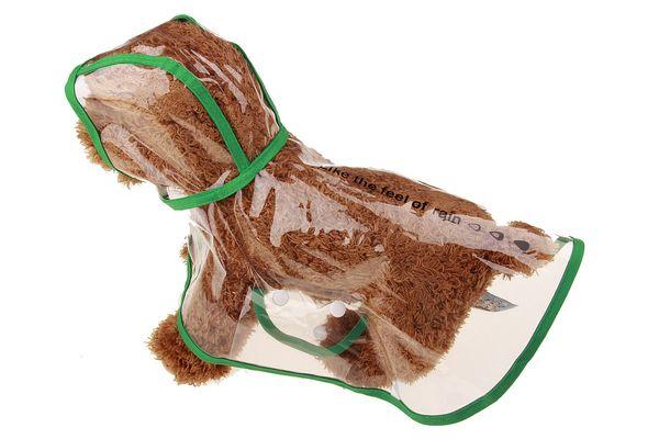 Dog Apparel Waterproof Small Pet Dog Raincoats Waterproof Jacket Hooded Pet rain Coat Clothing Transparent Pet Dog Rainwear Size XS/S/M/L/XL