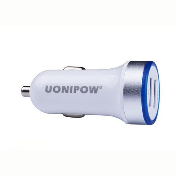 Original Uonipow Car Charger Dual Port USB Charger 3.1A Smart Auto Adapter Charging Car charger for iphone Huawei With Retail Packing
