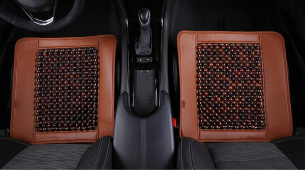 Sunzm High quality Red wood acid Car seat cover monolithic manual Bead Seat Cushion Car Home Chair Cover Tan Beaded Cool Summer