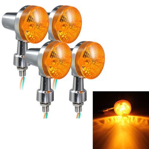 top popular Motorcycle Motorbike Amber Round Turn Signal Indicator Light Yellow Lamp Amber Bulbs 12V 2020