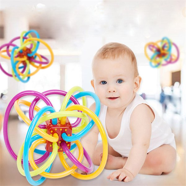 Rubber Magic Hole Ball Baby Play Bite Grind Teeth Ball Infant Teethers Soothers kids Puzzle Toys OTH102