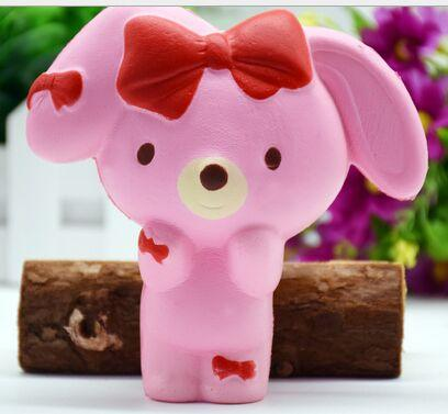 12cm Hot Kawaii Jumbo White Pink Rabbit Squishy Soft Doll Collectibles Cartoon Sweet Scented Slow Rising