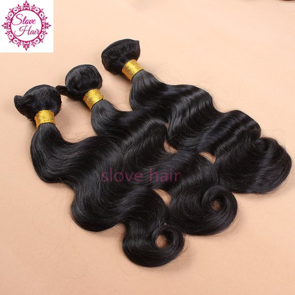 Grande vente brésilienne indienne péruvienne malaisienne non transformés de cheveux humains armure vague de corps 3pcs lot Hot Slove Hair Products