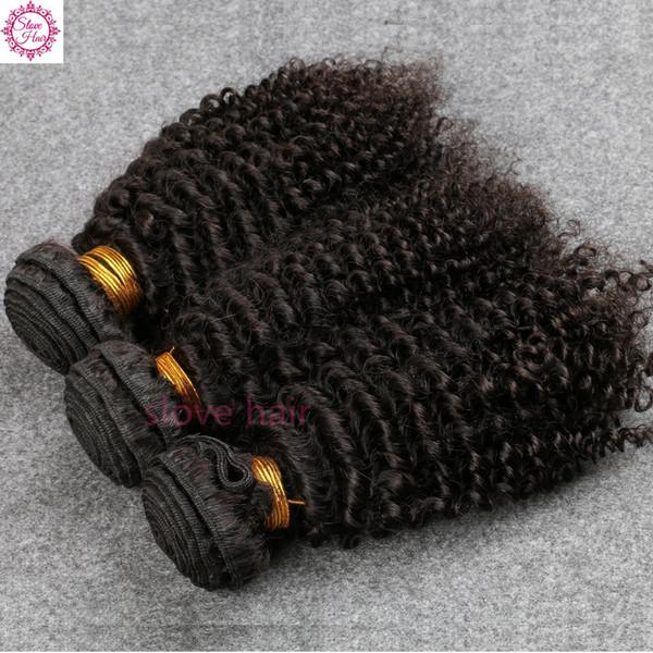 8A capelli vergini brasiliani crespi capelli vergini brasiliani di alta qualità dei capelli dei capelli di 3Bundles Trasporto libero