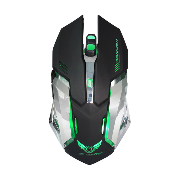 Wireless 2.4GHz Gaming Mouse Ergonomic Design Gaming Mouse 2400DPI USB Mouse Laptop
