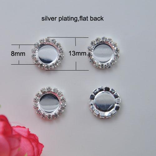 (J0739) 13mm diameter,100pcs/lot, Free Shipping 8MM Inner Circle Blank Setting With Rhinestones Flatback ,For Hair Flowers
