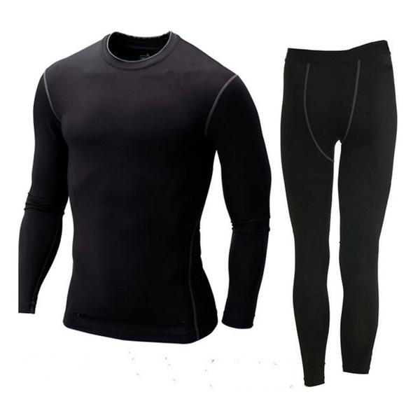 Hommes Sport Base de compression Couches Fitness PRO Vêtements Vêtements de sport élastique serrée
