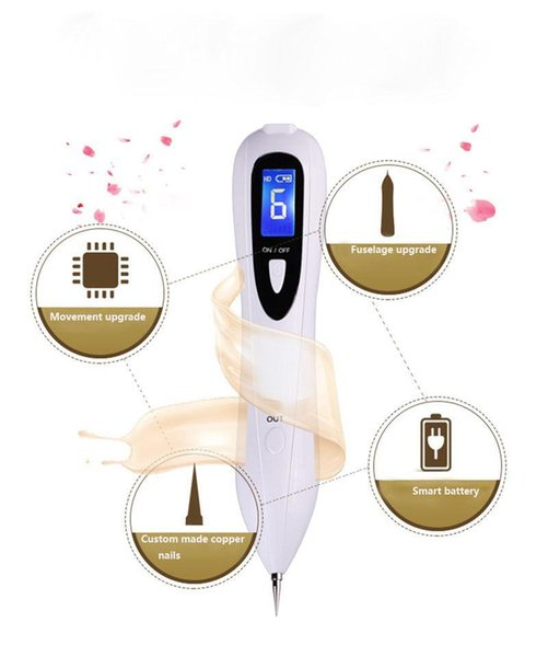 2017 Dark Spot Mole Tattoo Remover Laser Plasma LCD Skin Care Point Pen Upgraded Version Portable Use