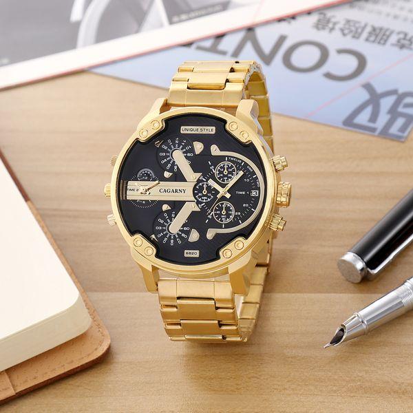 ec5c34a3d03d Relojes grandes de los hombres Relojes de pulsera de cuarzo de los hombres  de moda Cool