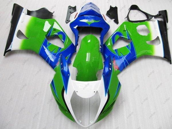 Fairing Kits for Suzuki GSXR1000 04 Body Kits GSXR1000 03 Green White for corona Full Body Kits GSX R1000 2003 2003 - 2004 K3