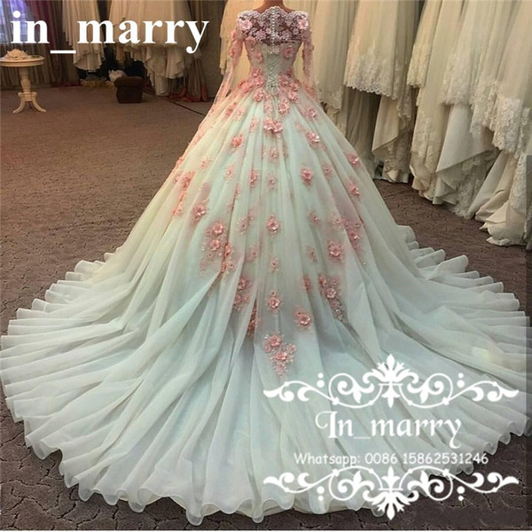 Muslim Arabic Designer Ball Gown Wedding Dresses 2017 Vintage Lace ...