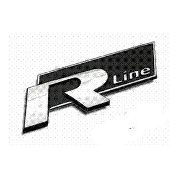 2 Colors 3D metal Rline R line Car Sticker emblem for volkswagen VW Beetle polo golf CC Touareg Tiguan Passat Scirocco sticker