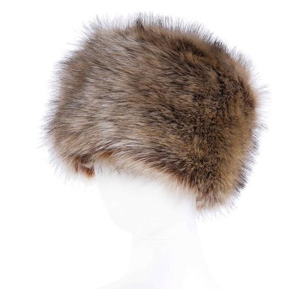 7 цветов женские зимние искусственного меха Коссак Русский стиль шляпа теплее уха теплее дамы Cap Шапочка