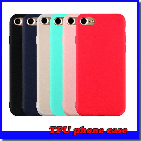 iPhone 7 Case Ultra Thin Shockproof Bumper Case for iPhone 6 6s plus Colorful Soft Matte Silicone Case for iPhone 5 5s SE
