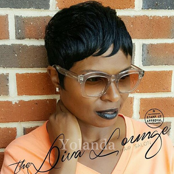 Celebrity Pixie Cut Short Human Hair lace wigs 4inch glueless lace front wigs for african americans Best brazilian hair wigs