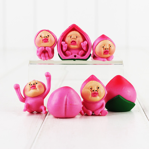 2.5-3.5cm 6pcs/set Janpenese Game The elves farm Kobito PVC Action Figure toy for kids christmas gift Free Shipping retail