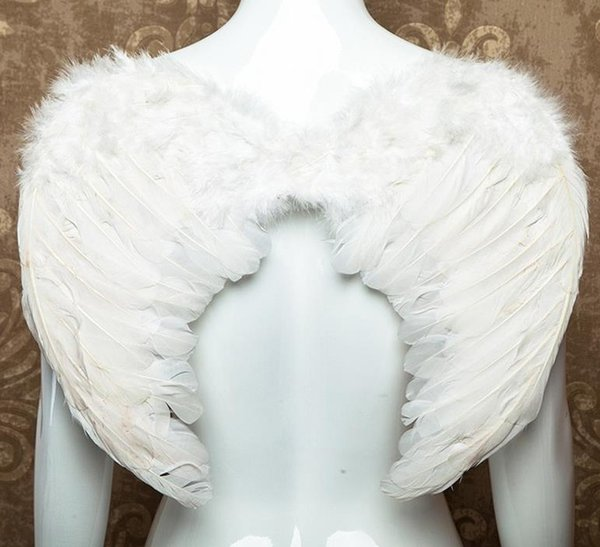 Adults Teens kid White Feather Wing Cos Angel Fairy Halloween Christmas Dress Up Fancy Dress Wings Hen Night Party Costume props gift