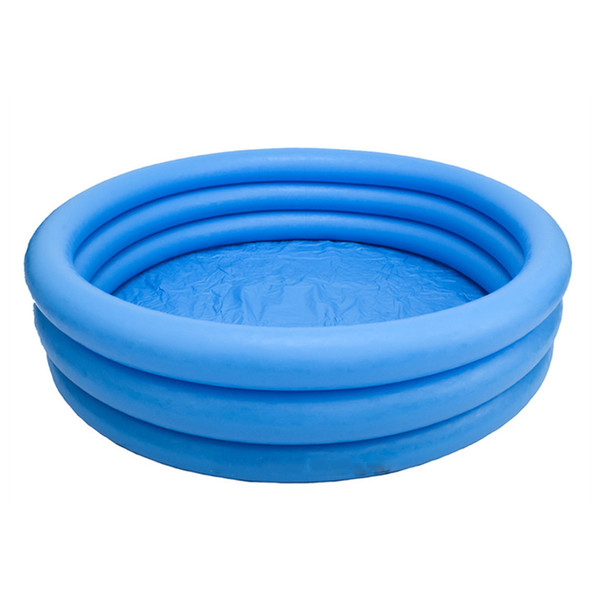 Crystal Blue Paddling Pool 3 Rings Inflatable Family Swimming Pool Sand Pit for Summer Outdoor Play