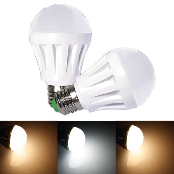 Kısılabilir 2835 smd LED dünya Ampuller 3 W / 5 W / 7 W / 9 W / 12 W 400LM 5 W E27 B22 Fiş LED Top Lamba Gün Beyaz