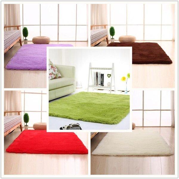 Top Qualität Flauschige Teppiche Anti Skid Shaggy Bereich Teppich Esszimmer  Home Schlafzimmer Teppichboden Matte