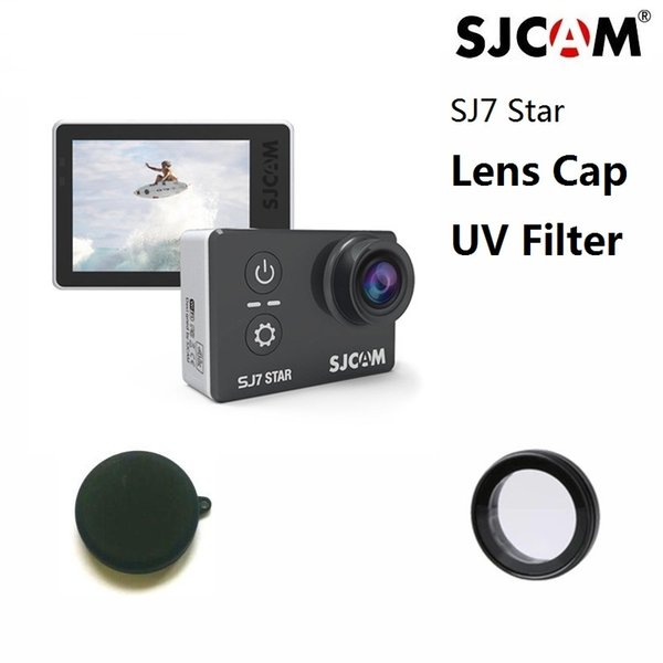 Wholesale- New SJCAM Original SJ7 Star Anti Scratch Lens Glass UV Filter Lens Cap Silicone Cover For SJCAM SJ7 Action Camera Accessories