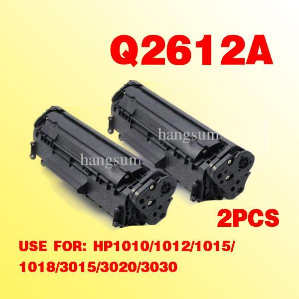 2x para hp2612a Q2612A 12A cartucho de tóner compatible para Laserjet 1010/1012/1015/1018/3015/3020/3030