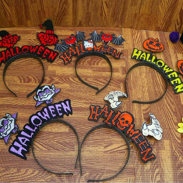 Happy Halloween Decoration Pumpkin Bat Party Hats Headband For Adult Children Cool Costume Party Props 20*23CM