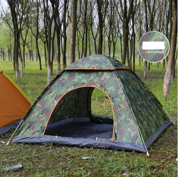 best selling Outdoor Quick Automatic Opening Tents Pop Up Beach Tent Tent Camping Tents For 2-3 Persons ultralight backpacking tents Shelters