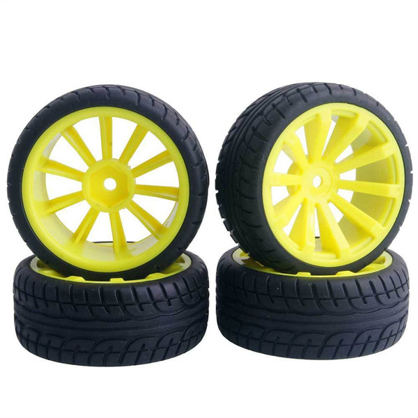 4pc RC Flat Racing Tires Tyre Wheel Rim For HSP HPI 1:10 On-Road Car 601Y-8003